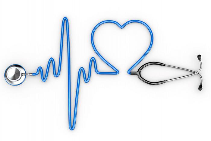 Foto de estetoscopio haciendo forma de corazón